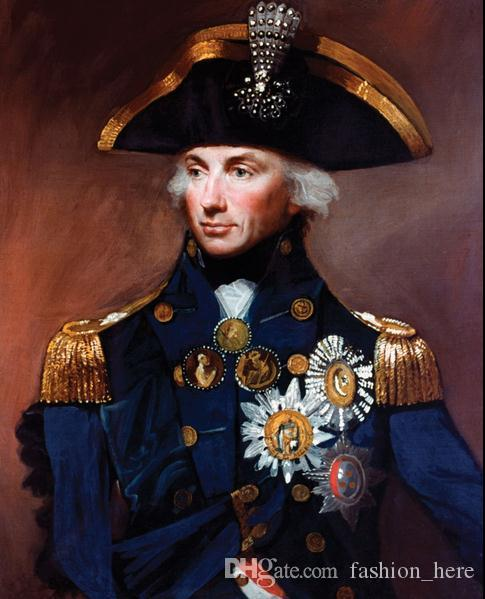 Framed ADMIRAL NELSON ,Pure Handpainted Portrait Art Oil Painting On High Quality Canvas Multi Sizes Free Shipping