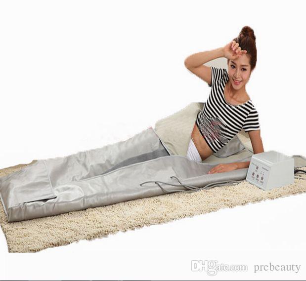 استخدام صالون بالأشعة تحت الحمراء الساخنة بطانية التخسيس 3 منطقة تدليك الجسم ينفاريد بعيدا بطانية