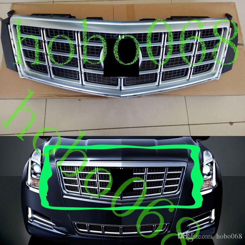1 pcs para cadillac xts 2013-15 carauto pára-choque dianteiro grade superior tampa da grade de montagem de decoração com logotipo