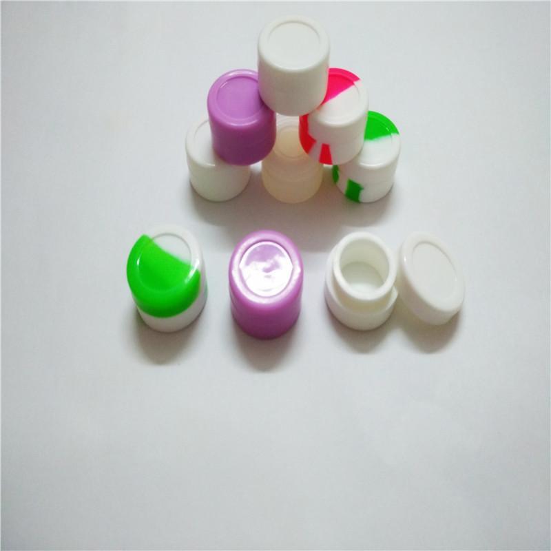 5 ml de antiadherente antiadherente de silicona tarros de contenedores de cera Dab contenedor concentrado de silicona 30 PC / lote