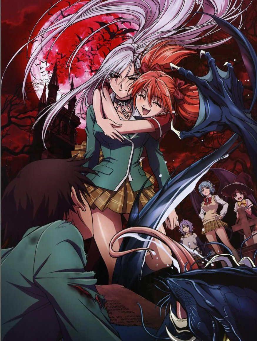 Anime De Rosario Vampire hot anime rosario + vampire characters moka akashiya & mizore shirayuki  sheet rozario to banpaia kurumu kuron blanket & duvet cover online blanket