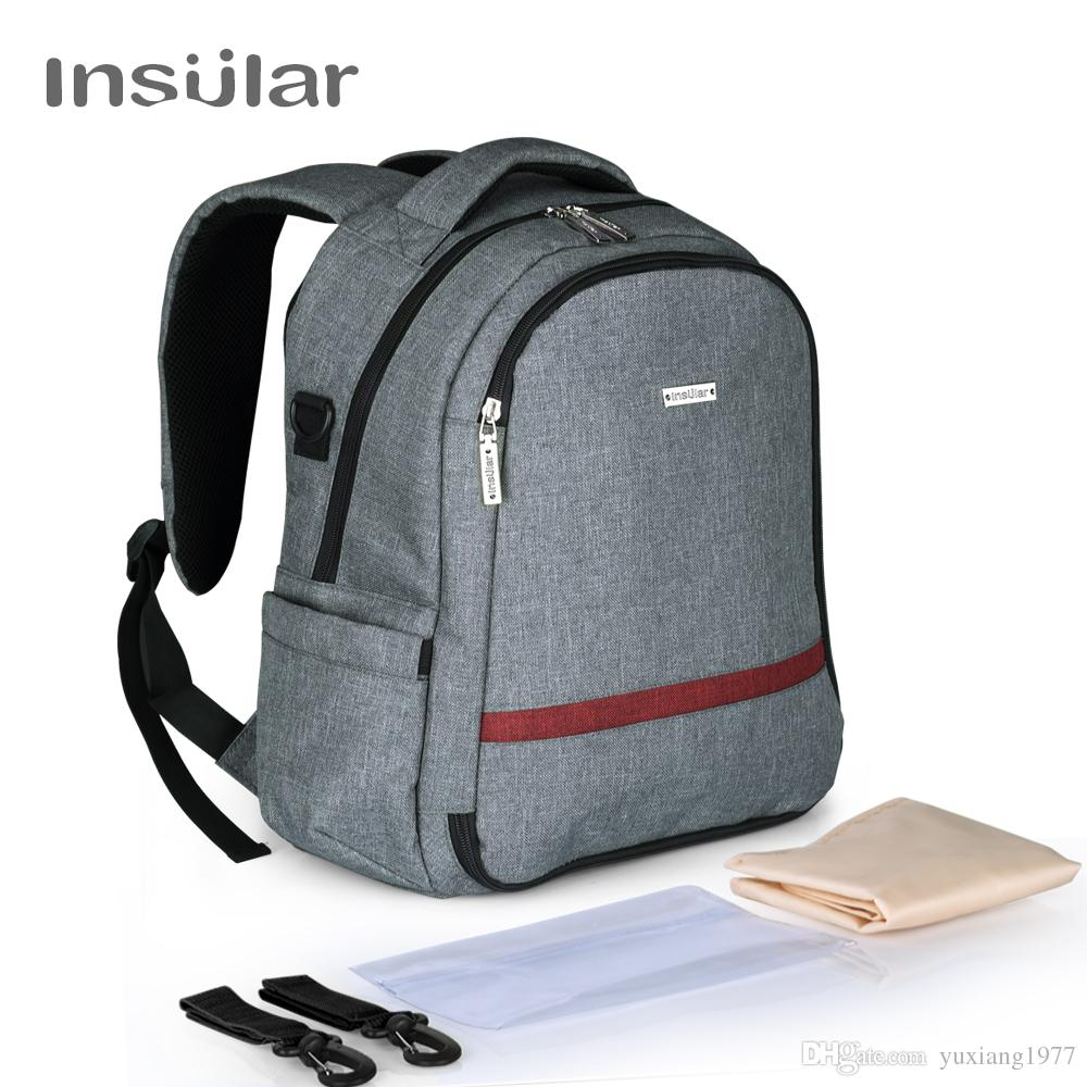 Insular Brand Multifunctional Baby Diaper Backpack Mommy Bag Nappy Changing Backpack