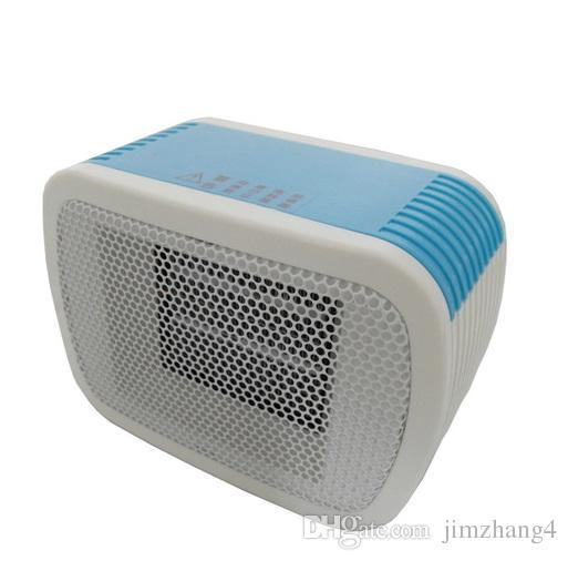 MinF01-5, envío gratis, calentador de espacio de cerámica de PTC 220V 500W eléctrico Calentador de ventilador de escritorio mini invierno forzado Home Applicance, con enchufe de la UE