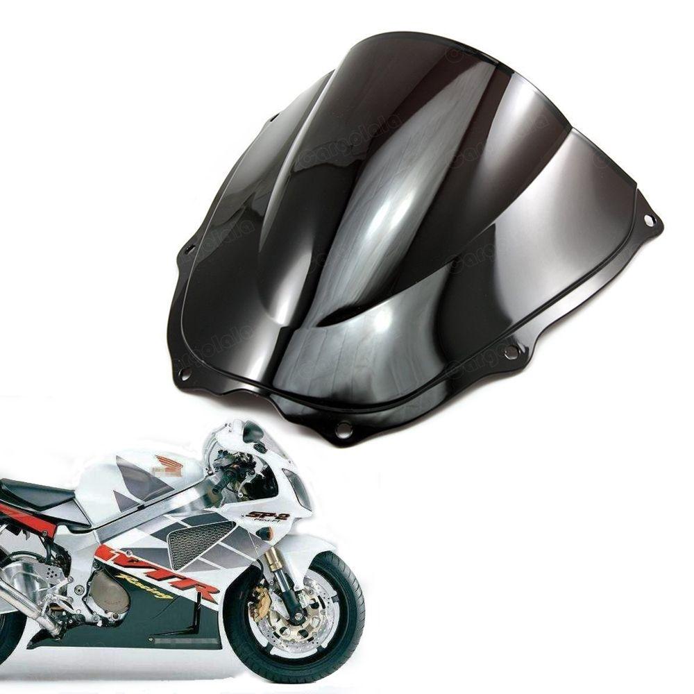 Nuevo parabrisas doble burbuja parabrisas Shield para Honda RVT1000R VTR1000 2000 2001 2002 2003 2004 2005 2006