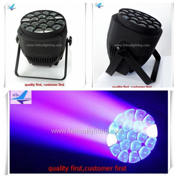 2xlot Zoom Bee Eye 19x15W Big Eye Par High Power RGBW 4in1 LED Bee Par Light + Wash LED per DJ Disco Party Wedding Stage Lighting