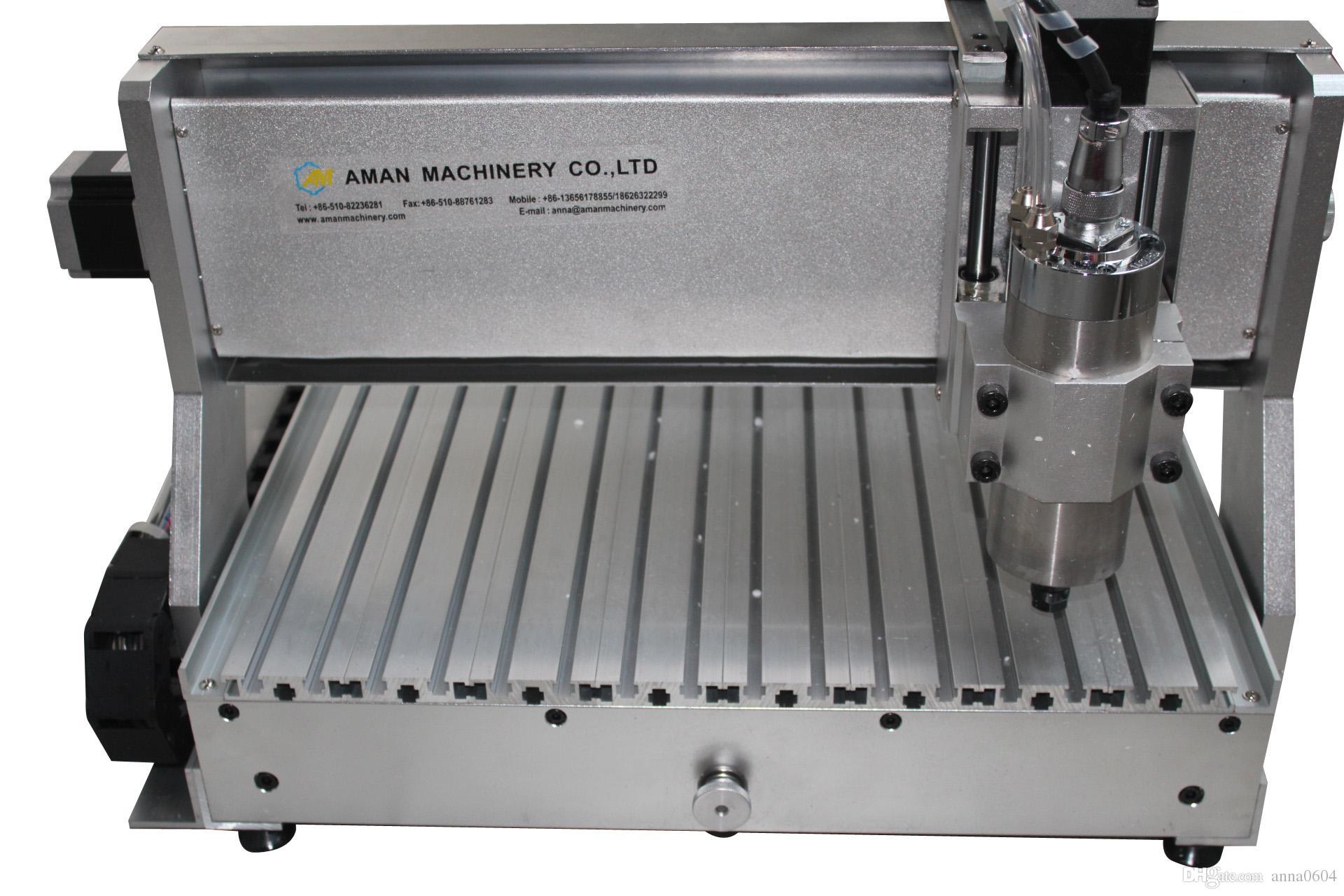 2018 chaud haute précision wuxi aman portes en bois machines de gravure, 4 axes cnc 6040 800 W bois cnc machine de gravure pour bois design en plastique