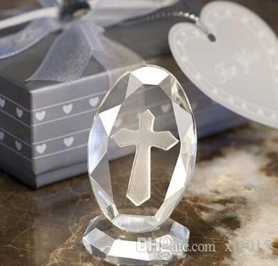50PCS Wedding Favors and Gifts Crystal Cross Standing Baby Christening Gifts Baby Shower Favors First Communion Gifts