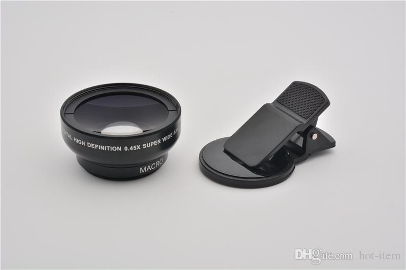 e495fd9a12e42c ... 37 mm 0.45x Wide Angle Lens Converter + Macro for iphone Samsung Canon  DSLR Sony