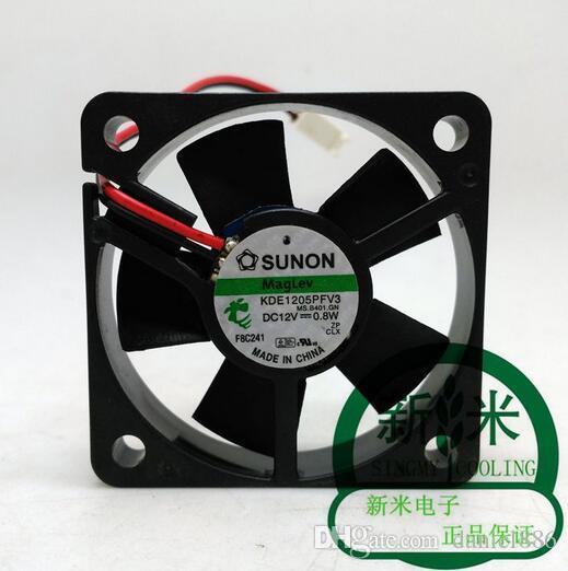 Originale Sunon KDE1205PFV3 12V 0.8W 5 centimetri 5010 50 * 50 * 10mm ventola di raffreddamento ultra silenzioso a 2 fili