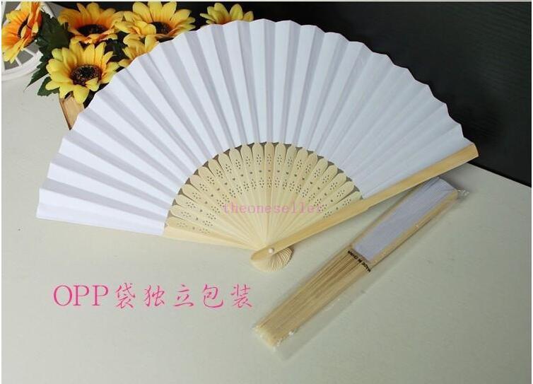DHL доставка в наличии 2016 горячий продавать белый свадебные вентиляторы полые бамбуковая ручка свадебные аксессуары вентиляторы зонтики Бесплатная доставка