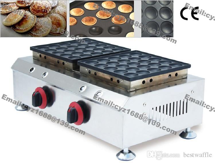 Ücretsiz kargo ticari kullanım yapışmaz lpg gaz 50 adet poffertjes ızgara mini Hollandalı krep maker makinesi baker