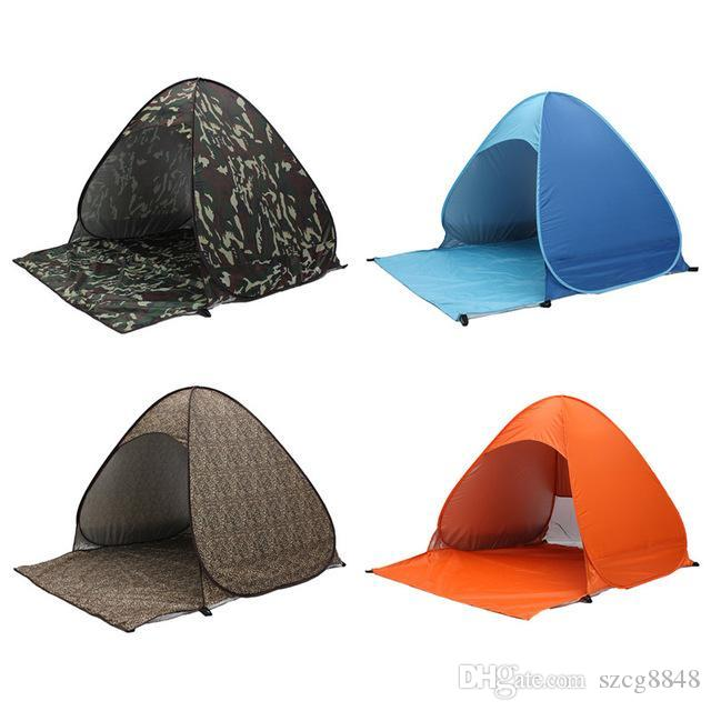 Новый 2016 бесплатная доставка один второй открытый автоматическая палатка портативный мода всплывал пляж солнце тени палатки