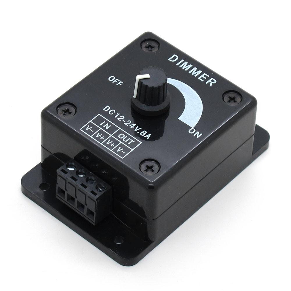 12v Dimmer Switch >> 2019 Black Led Dimmer Switch Dc 12v 24v 8a Adjustable Brightness Lamp Bulb Strip Driver Single Color Light Power Supply Controller From Adairs 4 03