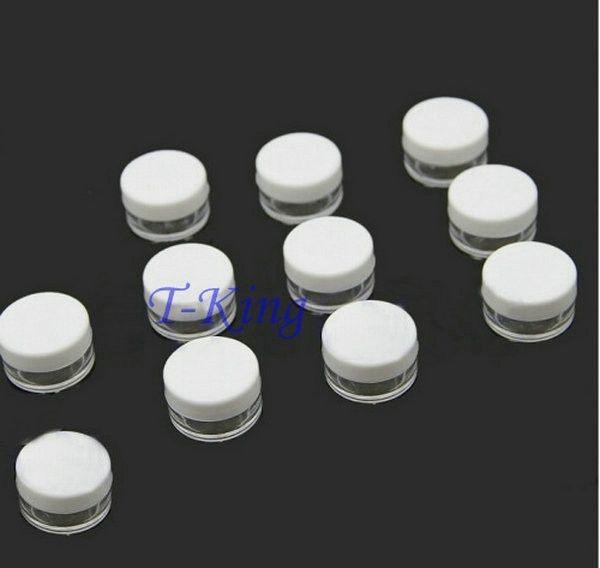 100 stücke Weiße farbe Plastikflasche Kosmetische Container Augencreme Glas Leere Probe Verpackung Flaschen 5G
