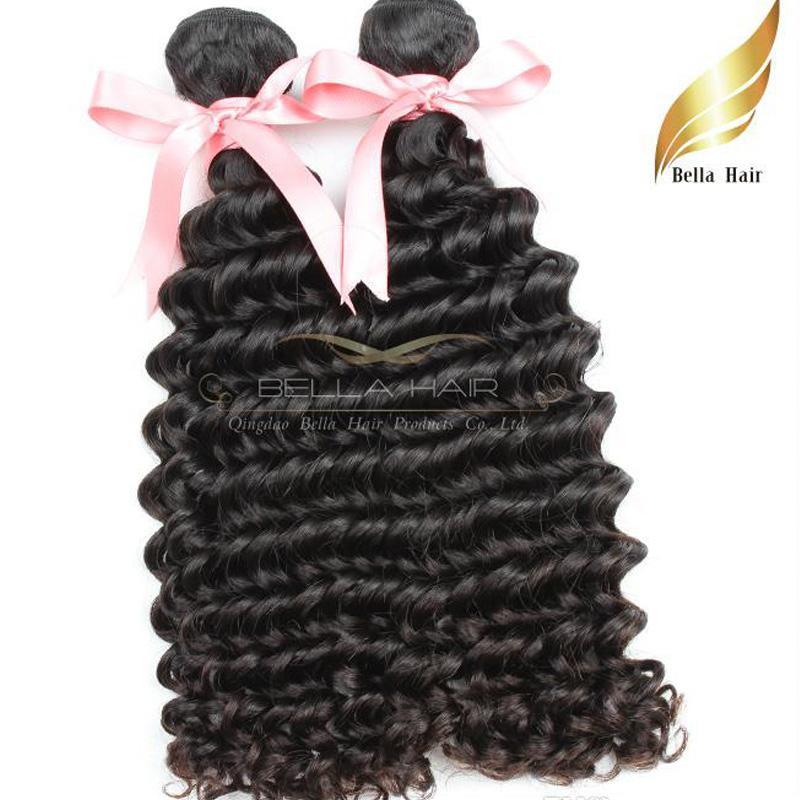 Peruwiańska głęboka fave Włosy Włosy 100% Ludzkie Przedłużanie Włosów Natural Color Grade 8A 1 lub 2 OR3PCS / LOT 8-30 CAL