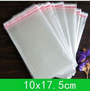 새로운 셀로판 가방 (10x15cm) 정품 또는 도매 + 무료 배송 더블에 대한 자체 접착 씰