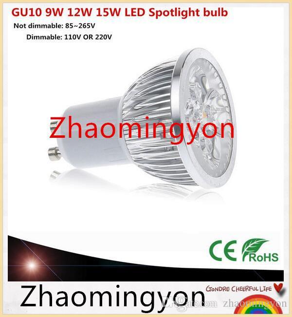 1PCS 슈퍼 밝은 9W 12W 15W GU10 E14 E27 LED 전구 110V 220V 디 밍이 가능한 LED 따뜻한 / 자연 / 차가운 백색 GU (10) LED 램프 스포트 라이트