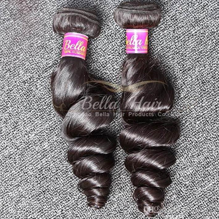 الصف 8a الشعر الهندي حزم غير المجهزة الإنسان الشعر 2 قطعة / الوحدة متموجة فضفاض موجة الشعر ينسج اللون الطبيعي لحمة الشعر السفينة مجانية