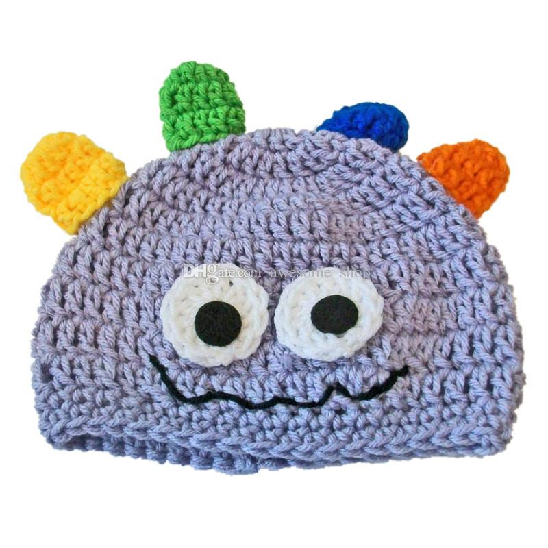 promo codes multiple colors nice cheap 2019 Novelty Baby Crazy Monster Hat,Handmade Knit Crochet Baby Boy Girl  Animal Hat,Halloween Beanie Cap,Infant Toddler Photo Prop Shower Gift From  ...