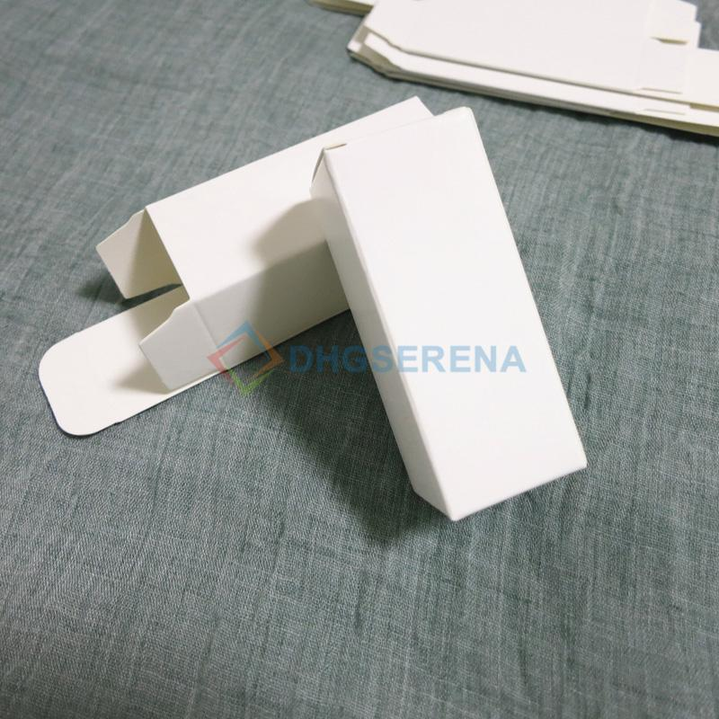 100 unids / lote- Caja de papel blanco Perfume Essetial olil Caja de muestra cosmética Caja de embalaje de regalo- tamaños múltiples disponibles