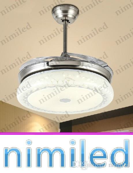 """nimi920 36""""/42"""" Minimalist Modern Invisible Ceiling Fan Lights Restaurant Light Living Room Chandelier LED Pendant Lamp Hotel Lighting"""
