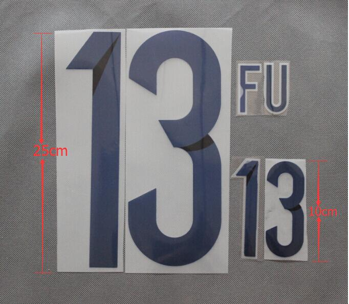 jersey number size