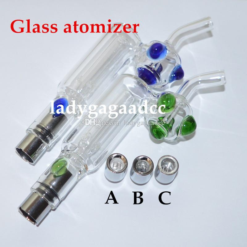 bong Glass Bongs Glass Hookah atomizer Dry Herb Wax Vaporizer Glass Water Atomizer dual quartz coil water filter pipe ecig bongs ecigs