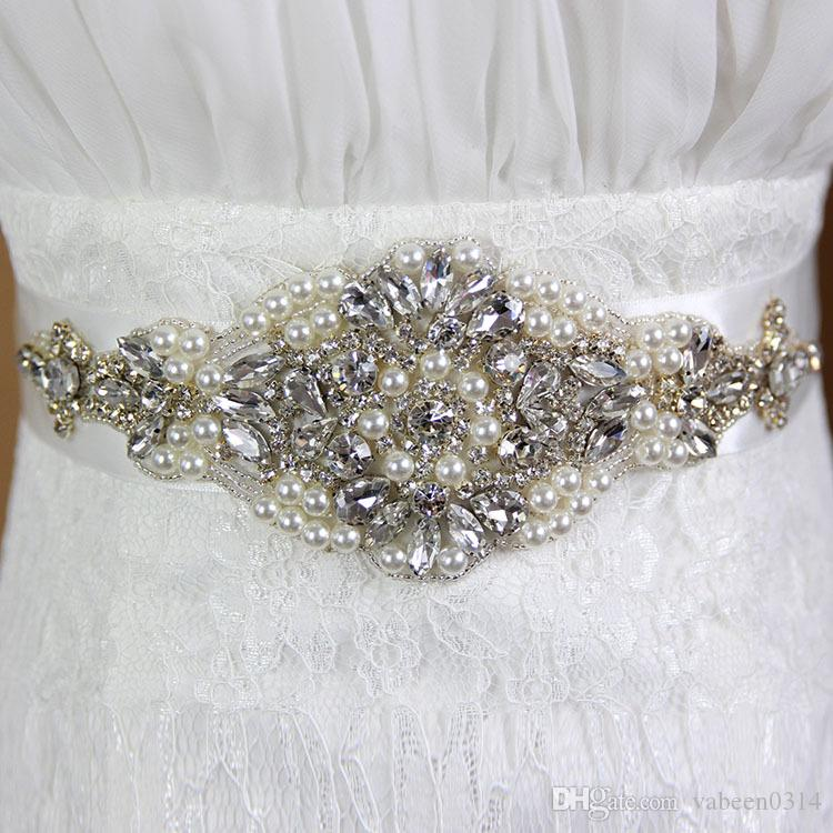 Free Shipping Custom Made Exquisite Heavy Beading Rhinestone Crystals Wedding Belt For Bridal Wedding Accessory Wedding Sashes