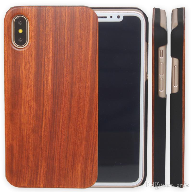 For Iphone 11 pro X XS Max 8 Wooden Case iphone 7 6 6s plus Cell phone Shell Shookproof Bamboo Wood Phone Cover For Samsung S8 S10 Note 10