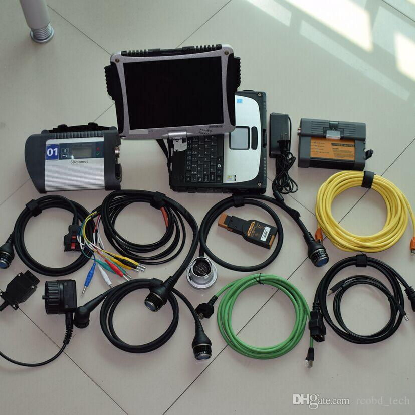 2020 Il più nuovo per c4 della stella di mb per BMW ICOM a2 con l'ultima 2IN1 HDD da 1 TB Toughbook CF19 set completo pronto per l'uso diagnosi