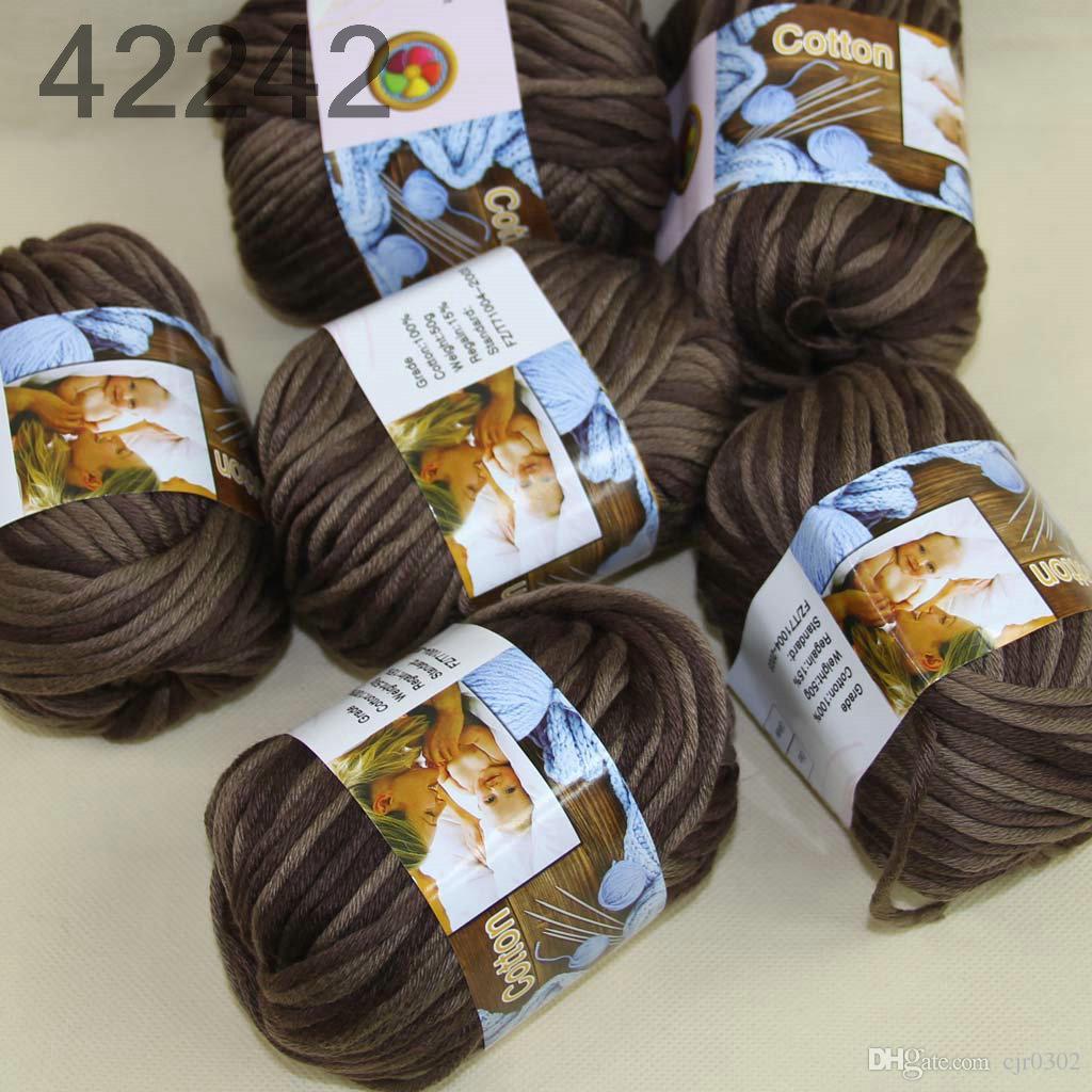 Серия 6 BallsX50g специальный толстый Камвольный 100% хлопок вязание пряжи шоколадно-коричневый 2242