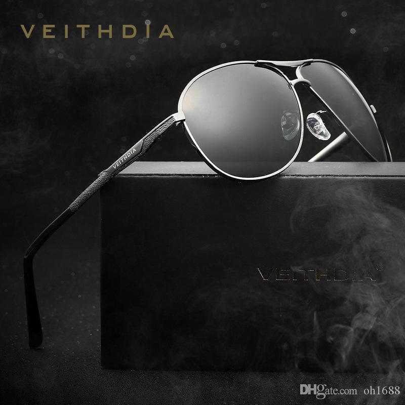VEITHDIA erkek Polarize Lens Güneş Gözlükleri Oculos masculino Erkek Güneş Gözlüğü Yaz Tarzı Eyewears Aksesuarları Için 2556