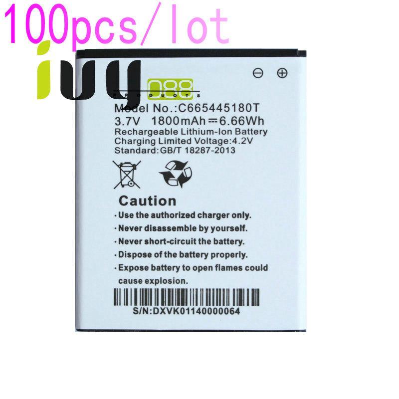 100pcs / lot 1800mAh C665445180T قابلة للشحن بطارية الليثيوم-أيون لبطاريات Batteria Batteria Batteria