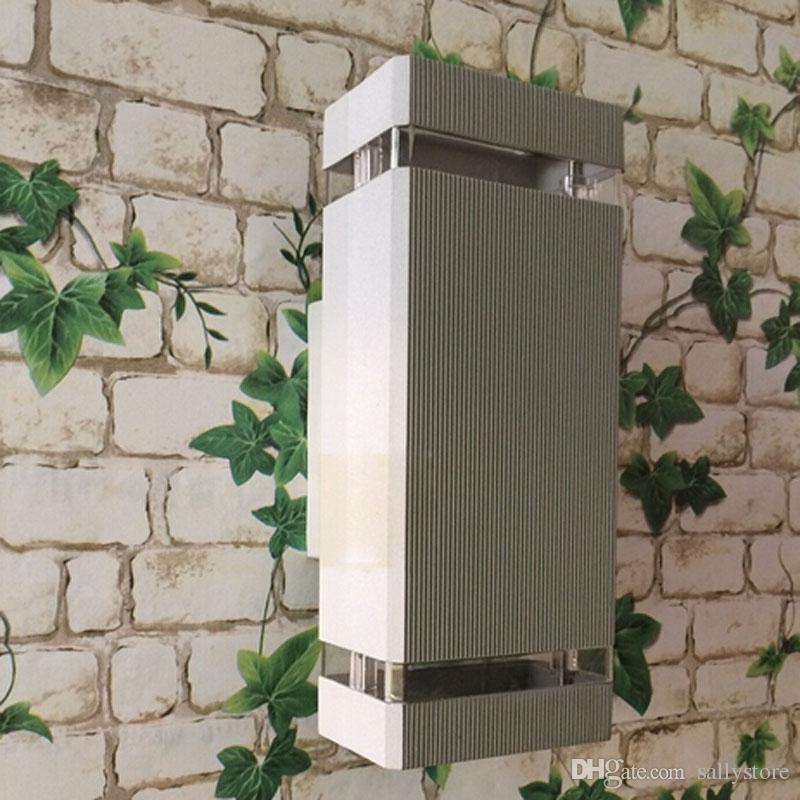4 개 블랙 야외 조명 / 야외 벽 램프 / LED 현관 / 정원 조명 / 알루미늄 등 / 방수 IP65 램프 야외 조명