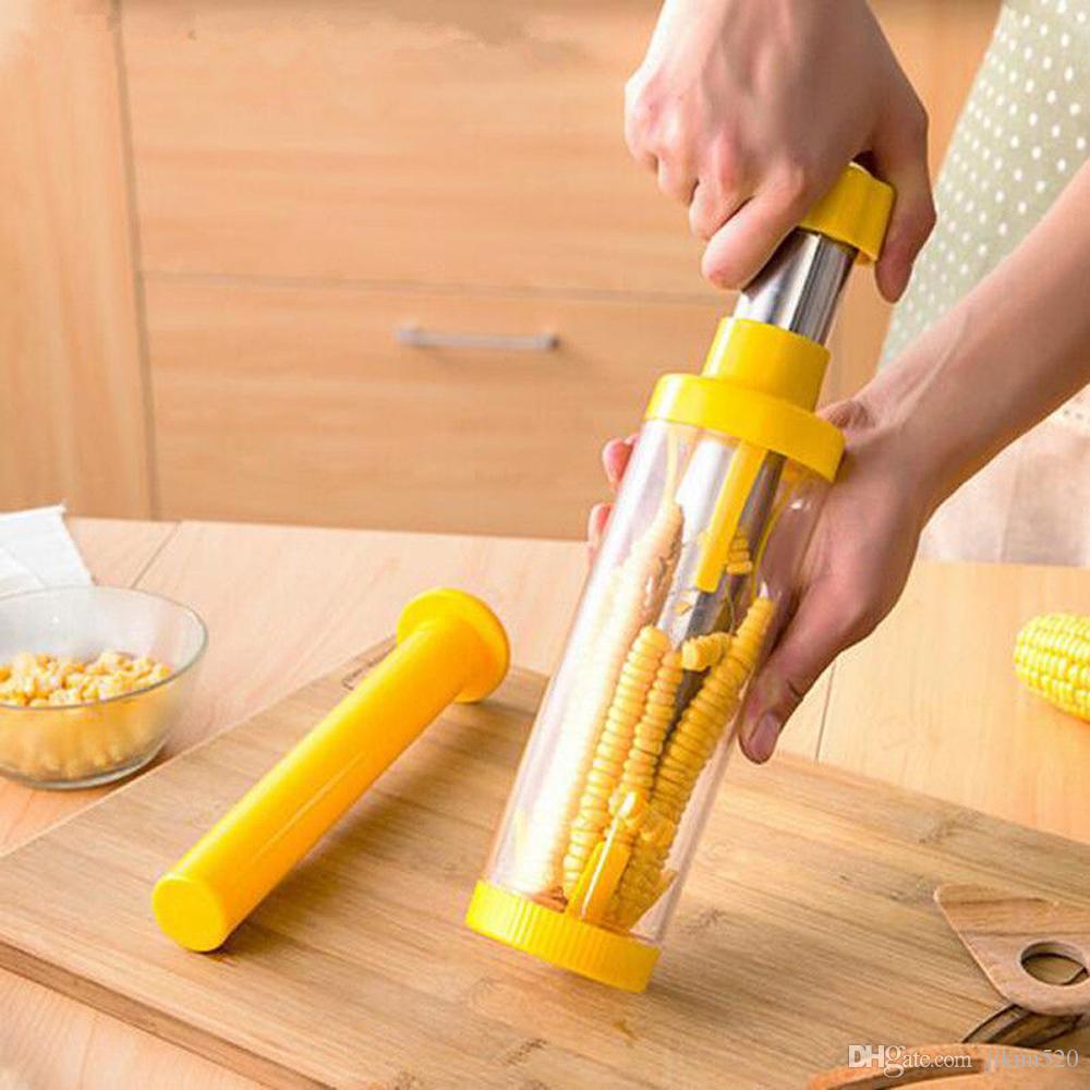 Removedor De Milho De luxo Removedor de Aço Inoxidável Kerneler Cob Cortador Peeler Debulhador Cozinha ferramentas Gadgets Acessórios
