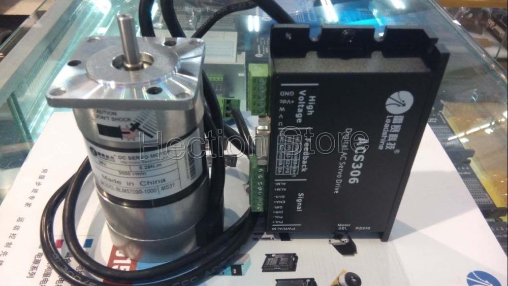 Novo servo sem escova Driveshine 90W ACS306 e motor sem escova BLM57090 -1000 Motor de trabalho a uma velocidade 24VDC 3000RPM 0.87NM
