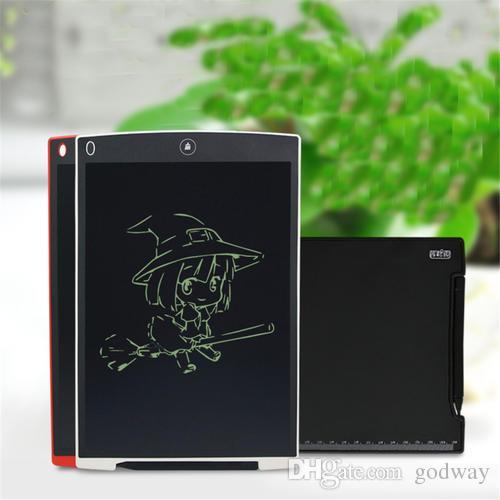 12 بوصة LCD الإبداعية لوح الكتابة المفكرة الالكترونية الرسم اللوحي الرسومات بنيت في CR2016 زر البطارية