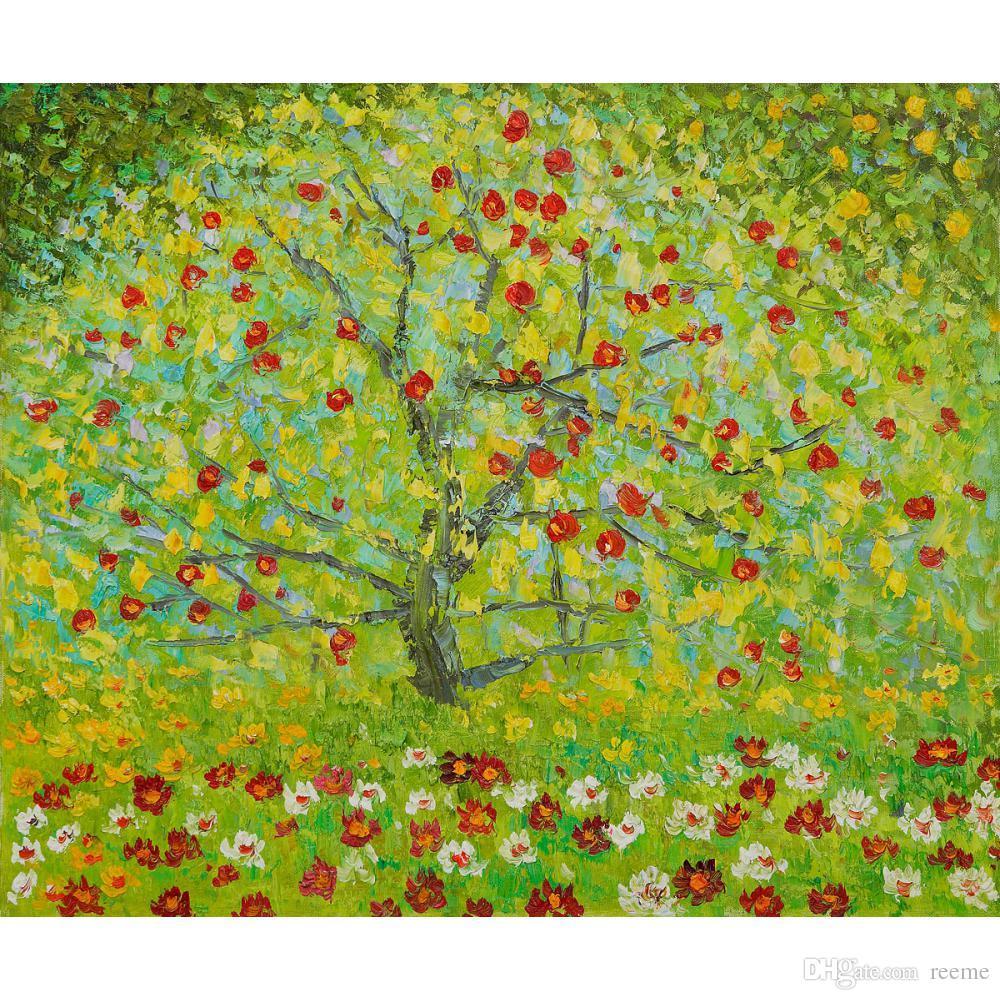 Acquista Gustav Klimt Opere Darte Riproduzione The Apple Tree Pittura A  Olio Su Tela Decorazione A Parete Fatta A Mano Di Alta Qualità A 71,26 €  Dal Reeme
