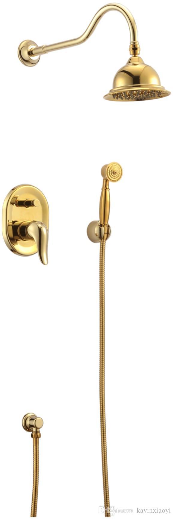 Versandkostenfrei poliert gold massiv messing wand duschwanne wasserhahn mxier wasserhahn