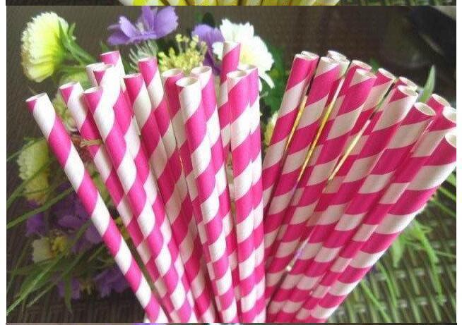 Wholesale - Via Fedex/EMS, Stripe Paper Drinking Straws Polka Dot Chevron Star For Party Decoration mixed Colors, 10000PCS
