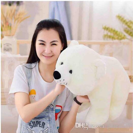 Huge plush lovely The polar bear toy big white standing polar bear doll soft pillow christmas gift