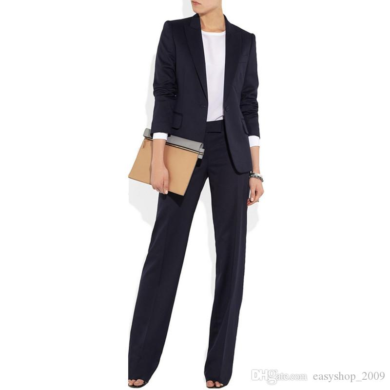 Peak Lapel Women Ladies Custom Made Hot Sale Suit Work Wear 2 Piece (jacket + pants) made to order