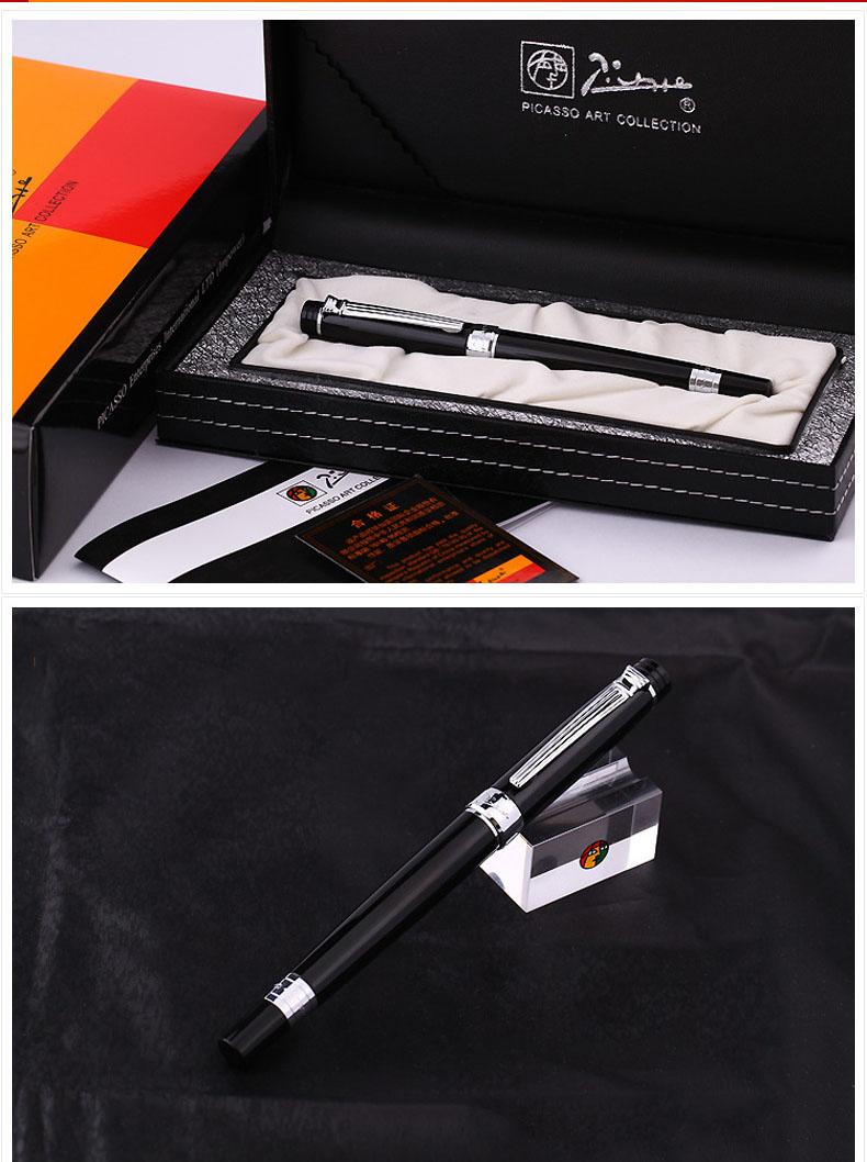Retail and wholesale Gel pe New Arrival Free Shipping Luxury Picasso pen ps-917 Roman Love Roller Pen Business Gift Set Top Branding Gel pen