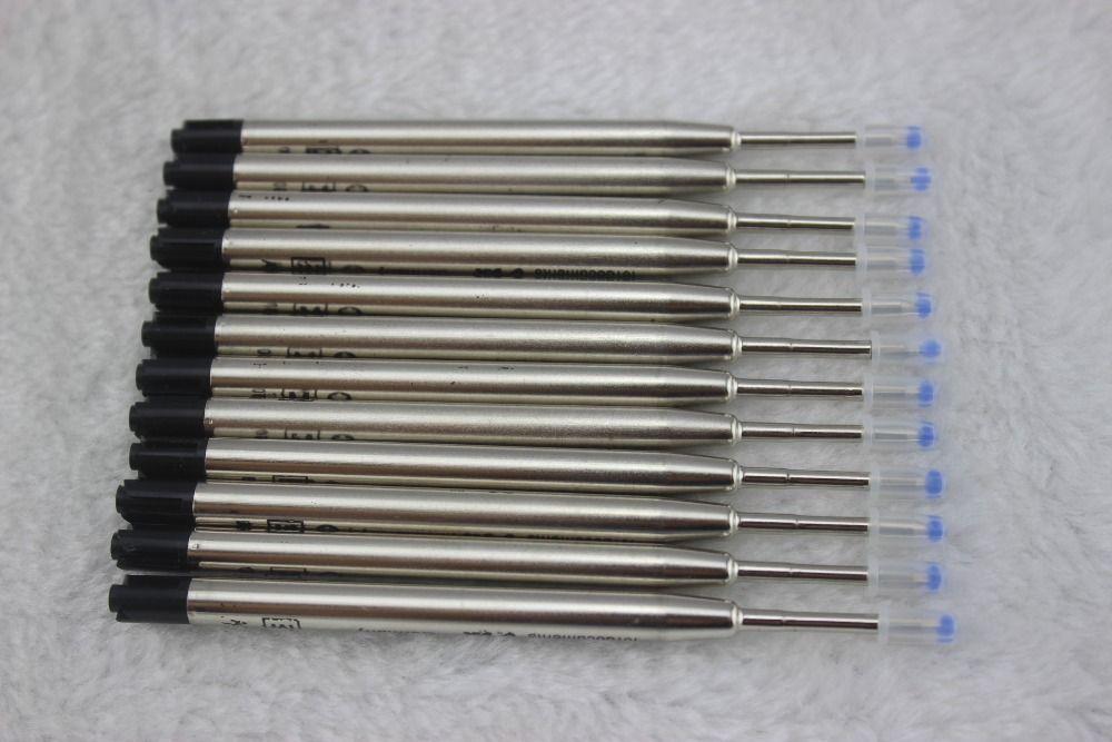 Atacado-20 Pçs / lote, (Black) BALLPOINT Caneta Recarga Para MONTE, Novo Design Pen Rods / preço de Atacado