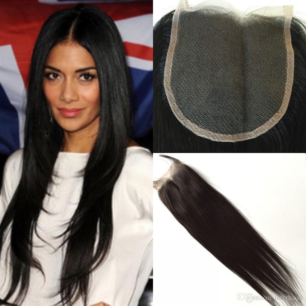100% Brazilian Virgin Hair 3 Way Parting 5x5 Lace Closure Top Closure Straight Natural Color Human Hair Closure Free Shipping