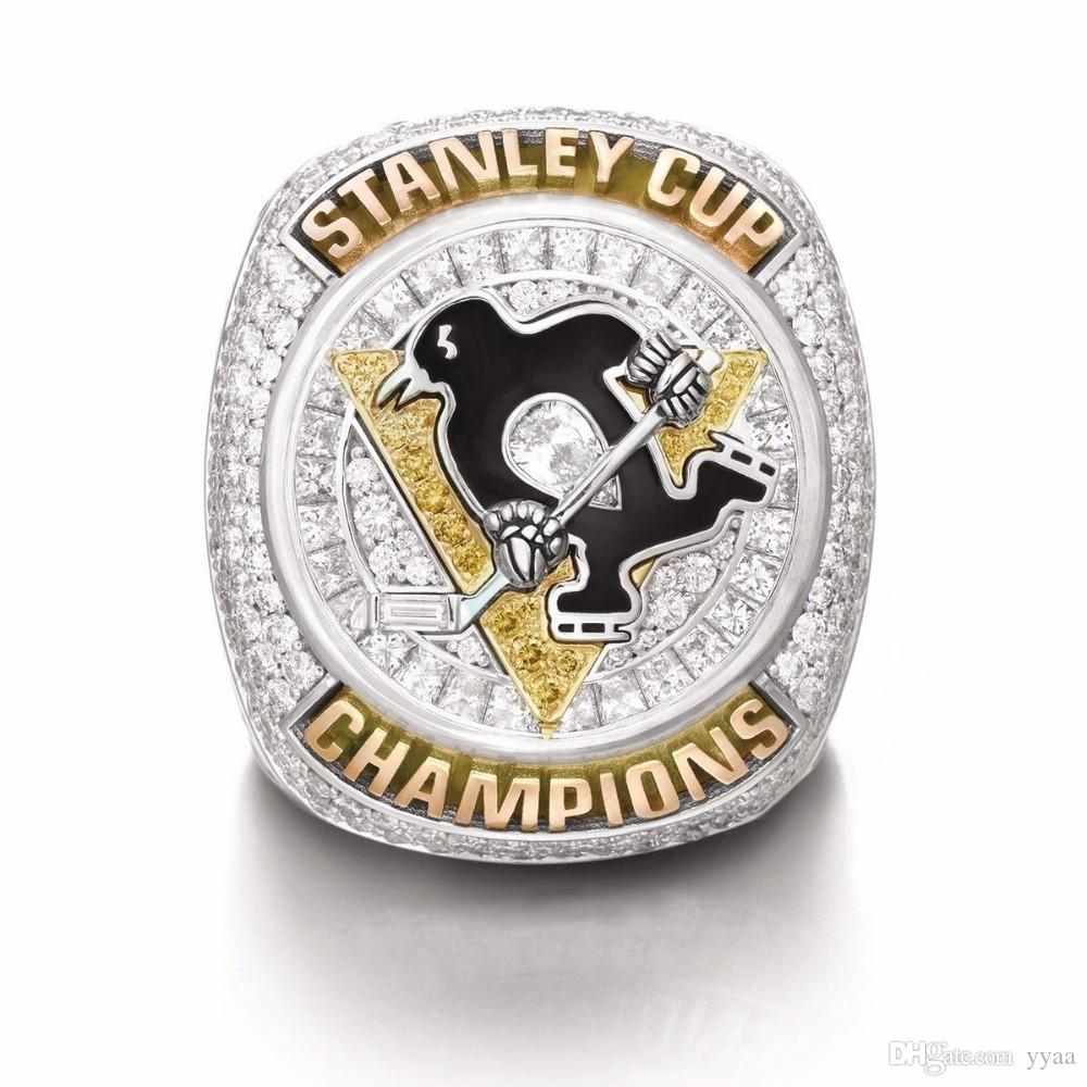 New 2016 Pittsburgh Penguins Stanley Cup Championship Rings, free Shipping Birthday Christmas Gift For Friends