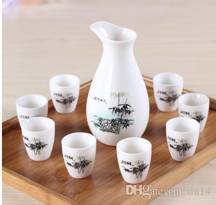 Cups Ceramics Wine Pot Set decoration Home Japanese Wineset drinking vessel Onsale Japanese Style Set Sake