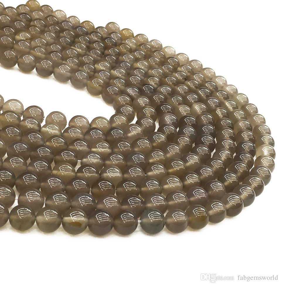 رمادي العقيق بريشيت الخرز جاسبر ، 8 ملليمتر 10 ملليمتر جولة الخرز ، الجملة الأحجار الكريمة الخرز ، 15.5 بوصة ، ستراند الكامل ، هول 1 ملليمتر