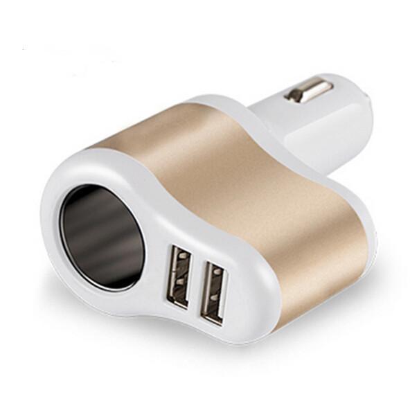 유니버설 듀얼 USB 2 포트 3100mah 자동차 충전기 담배 3.1A 자동 전원 어댑터 라이터 전원 소켓 충전기 어댑터