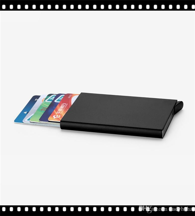 2017 Brand SUP Letter card holder metal luxury business card box ...